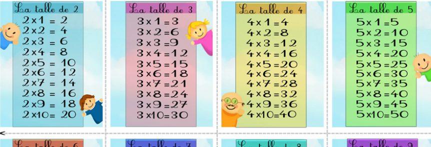 tables de multiplications